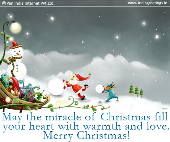 May the miracle of Christmas