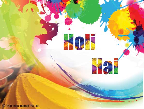 Fun With Holi Colours